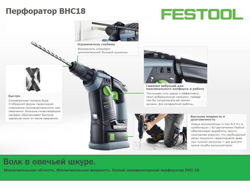 Новый перфоратор BHC18 FESTOOL
